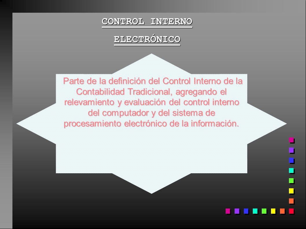 CONTROL INTERNO ELECTRÓNICO