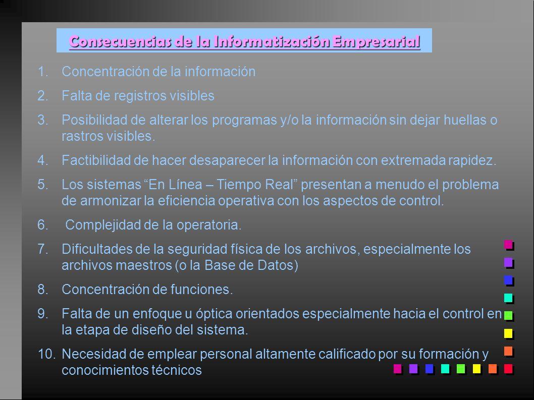 Consecuencias de la Informatización Empresarial