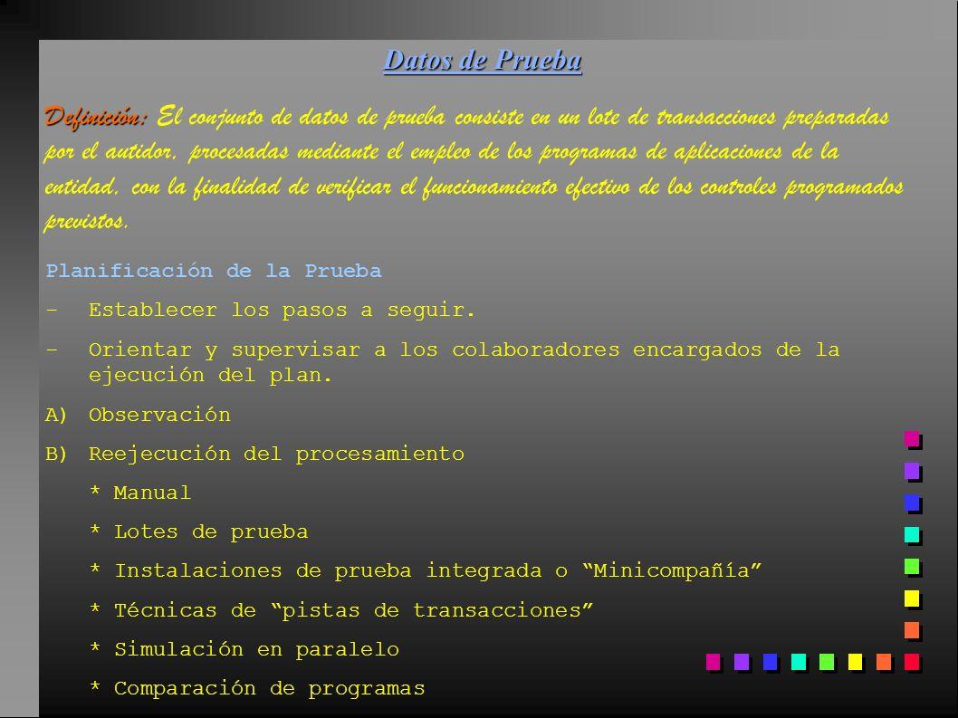 Datos de Prueba