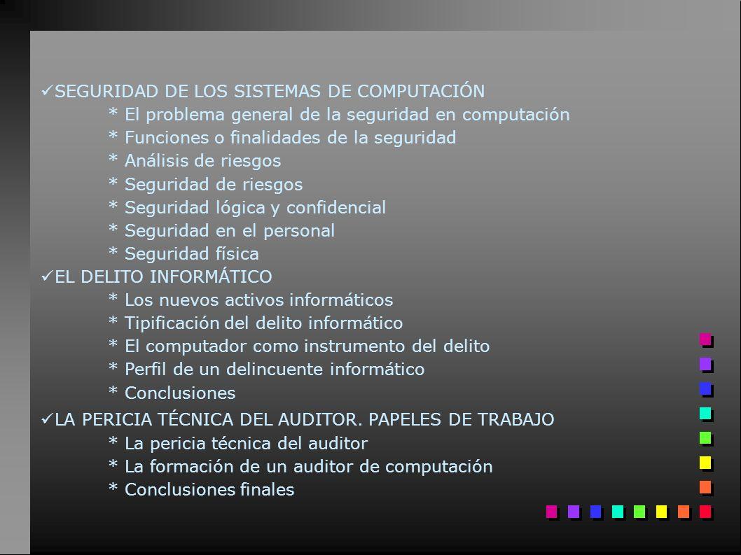 SEGURIDAD DE LOS SISTEMAS DE COMPUTACIÓN