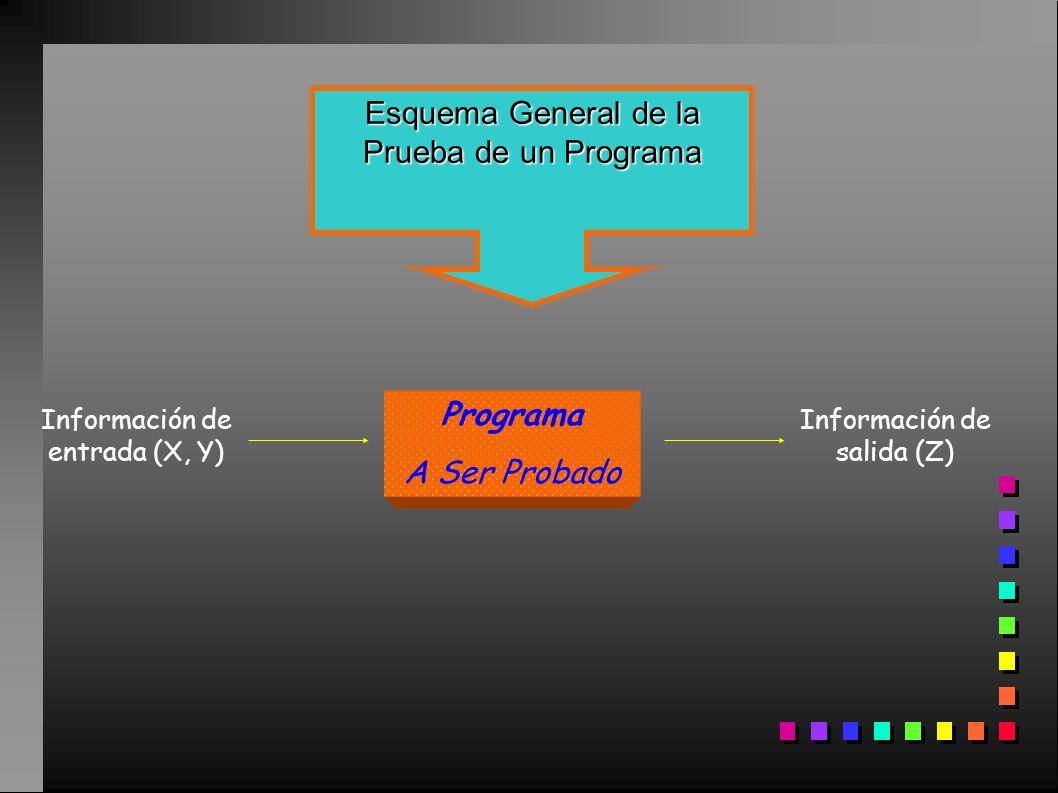 Esquema General de la Prueba de un Programa