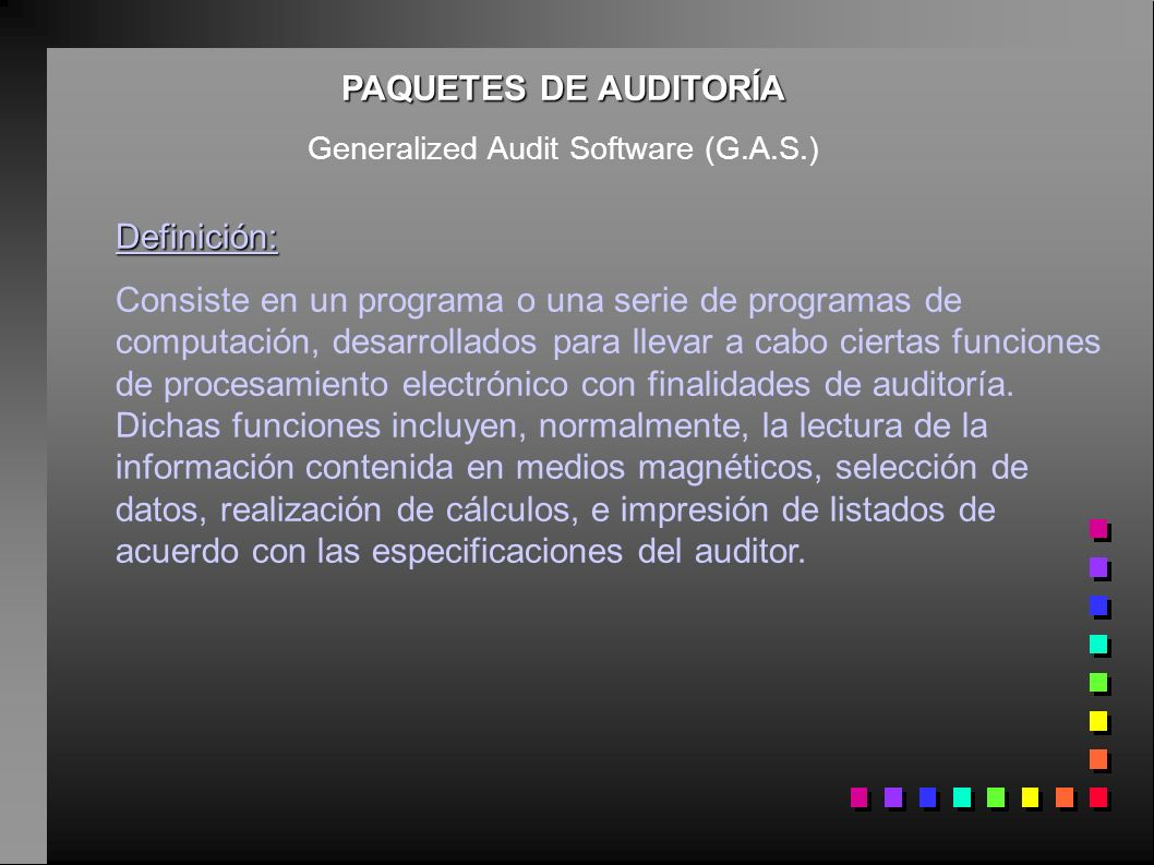 Generalized Audit Software (G.A.S.)