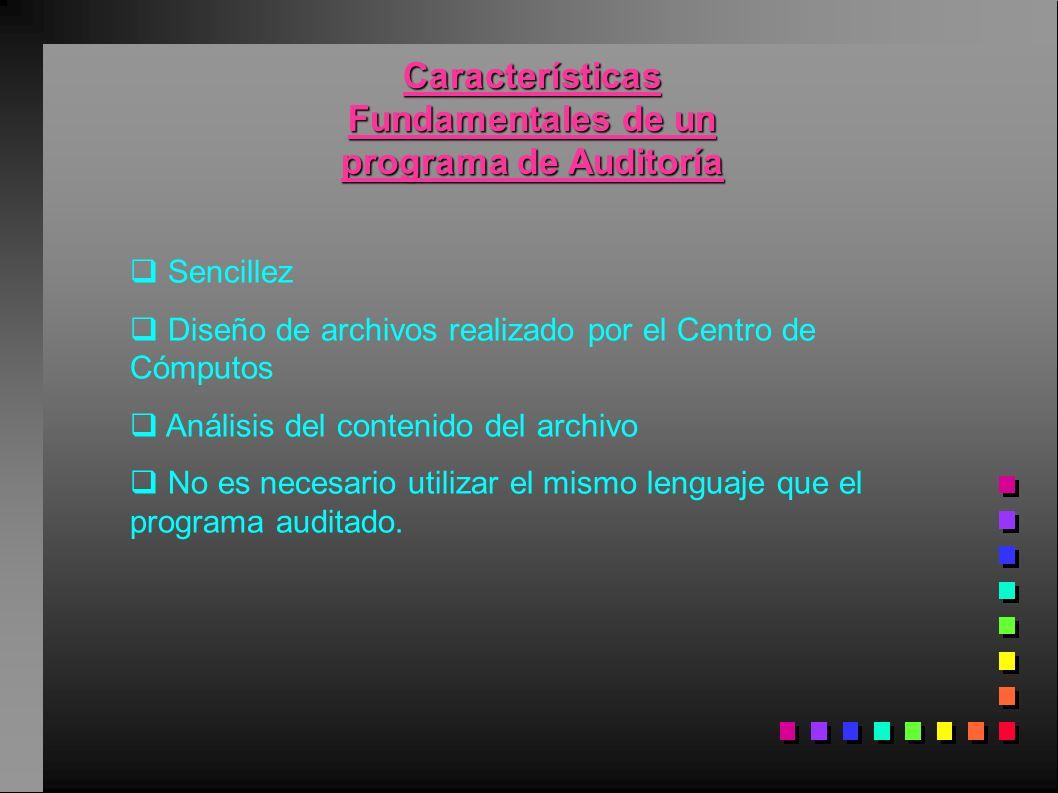 Características Fundamentales de un programa de Auditoría
