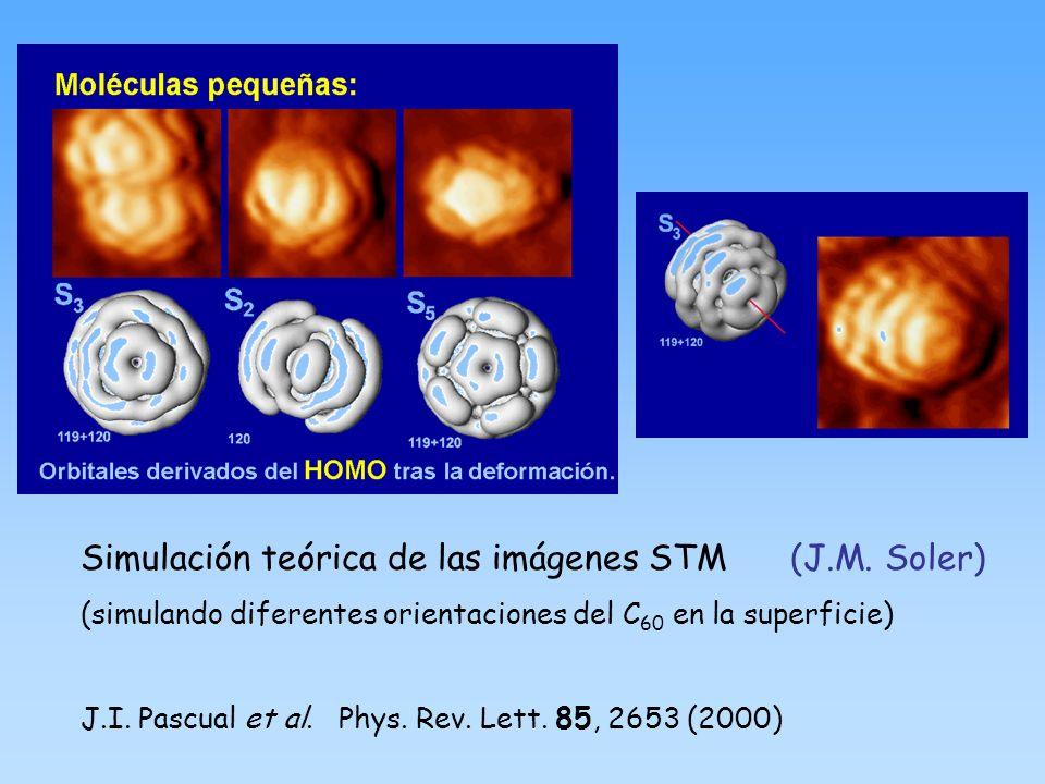 Simulación teórica de las imágenes STM (J.M. Soler)