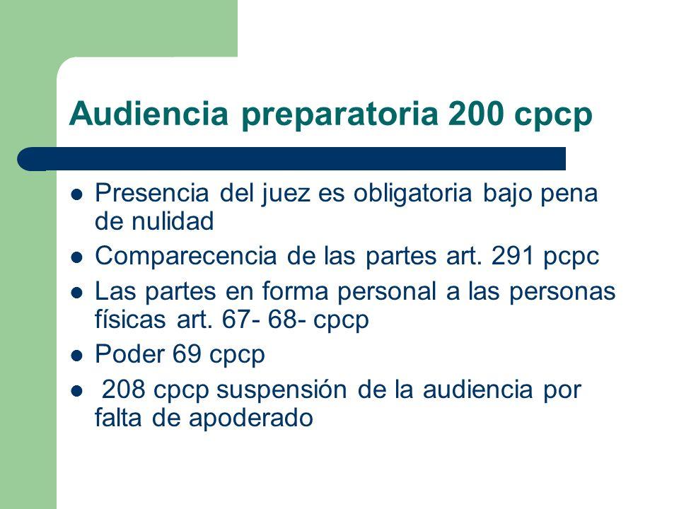 Audiencia preparatoria 200 cpcp