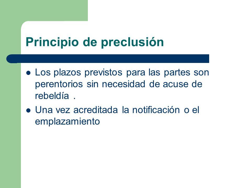 Principio de preclusión