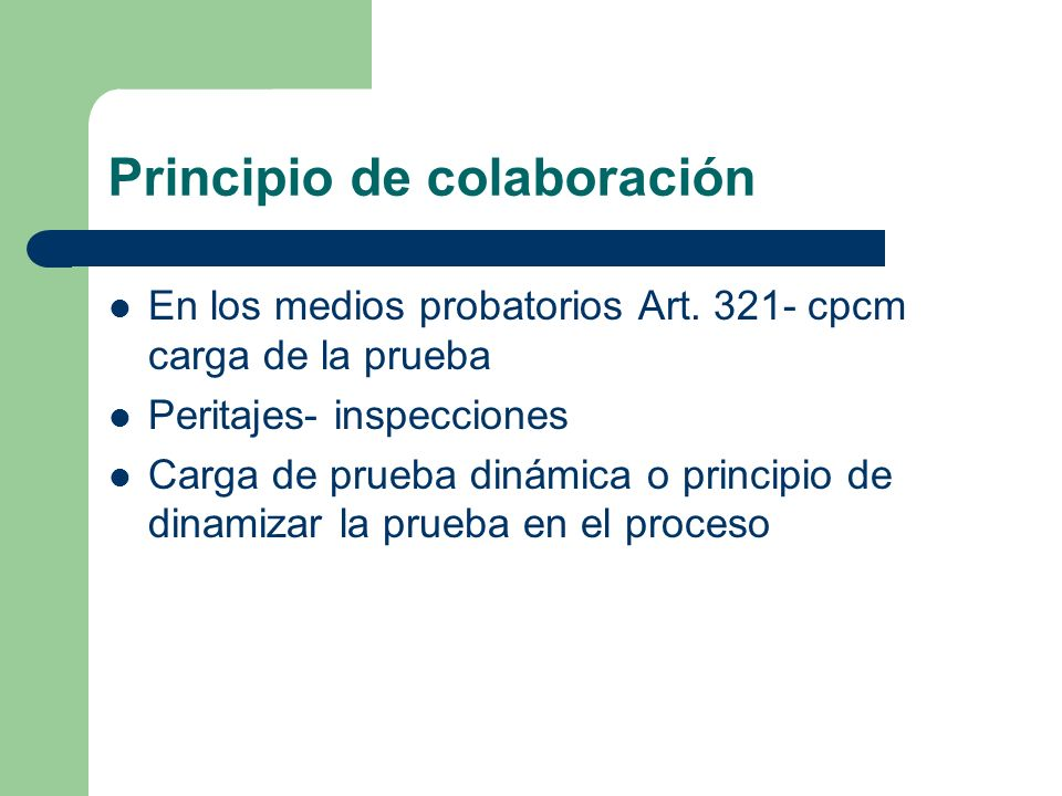 Principio de colaboración