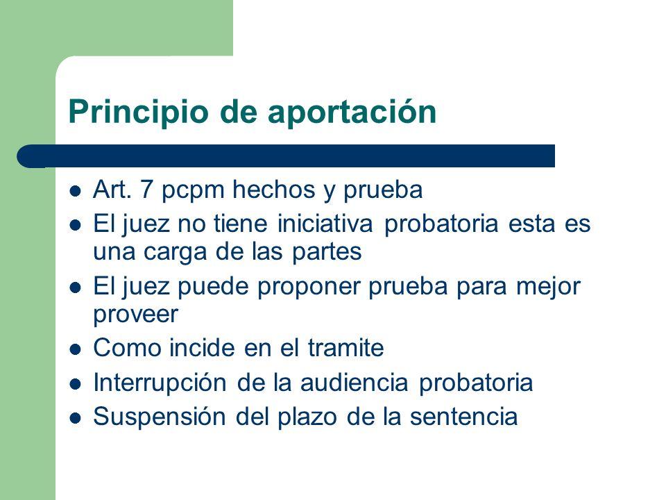 Principio de aportación