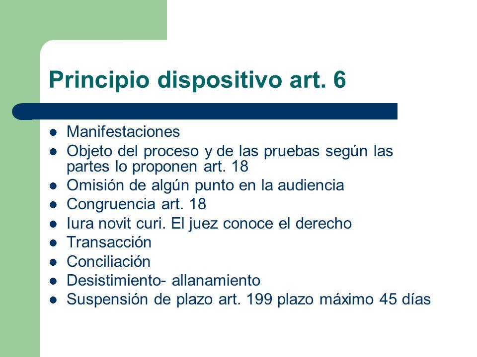 Principio dispositivo art. 6