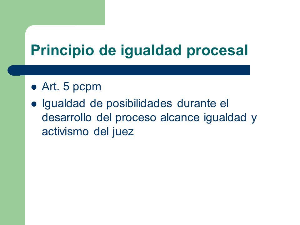 Principio de igualdad procesal