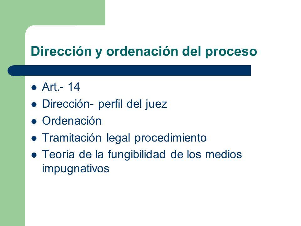 Dirección y ordenación del proceso