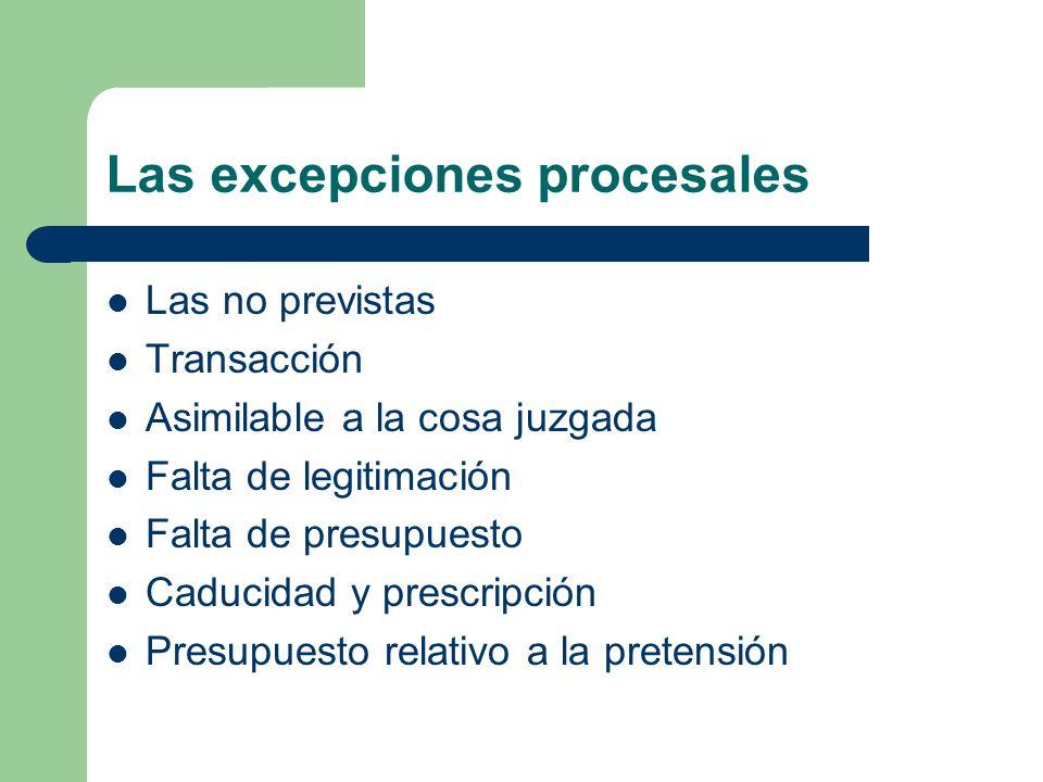 Las excepciones procesales