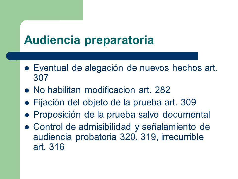 Audiencia preparatoria