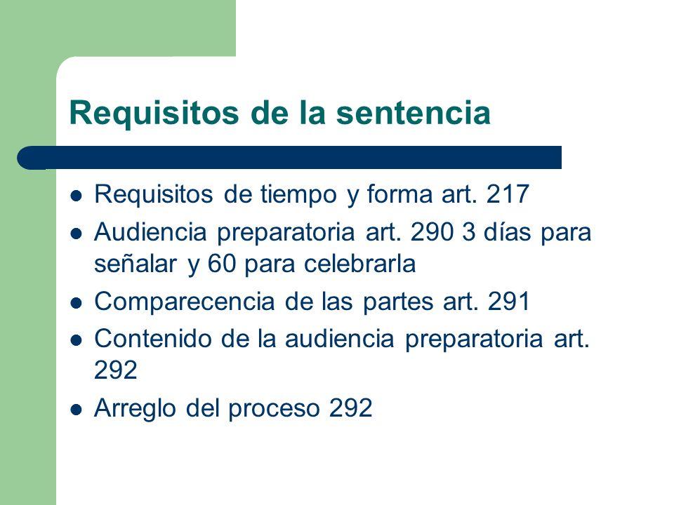 Requisitos de la sentencia