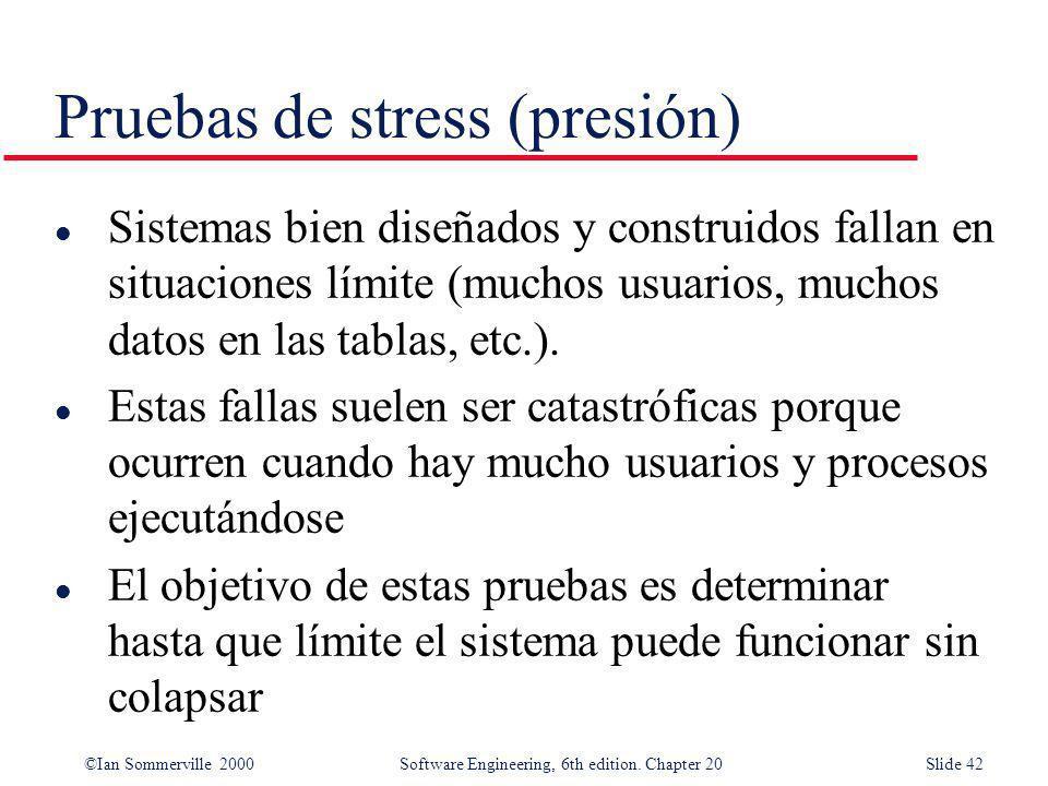 Pruebas de stress (presión)