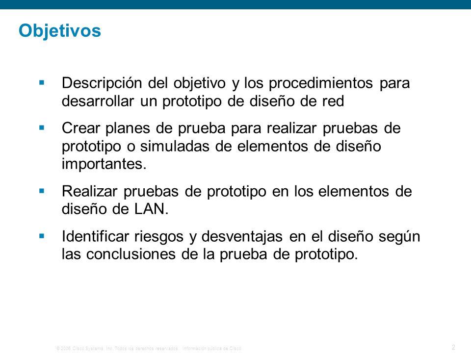 Objetivos Descripción del objetivo y los procedimientos para desarrollar un prototipo de diseño de red.