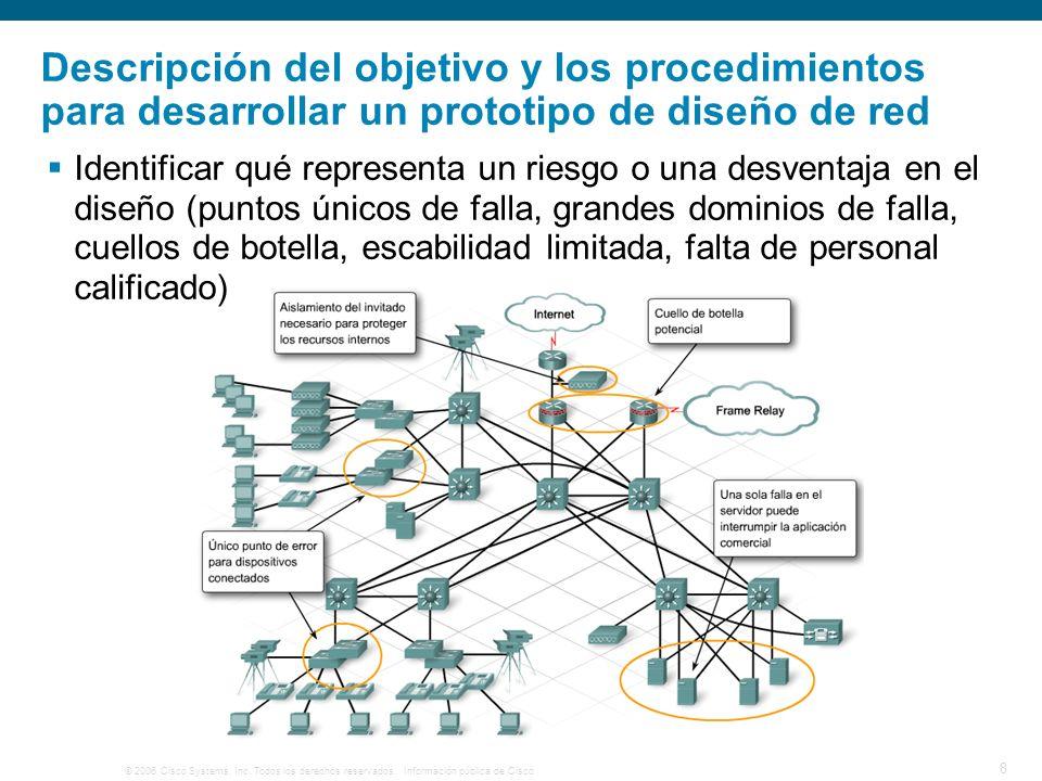 Descripción del objetivo y los procedimientos para desarrollar un prototipo de diseño de red