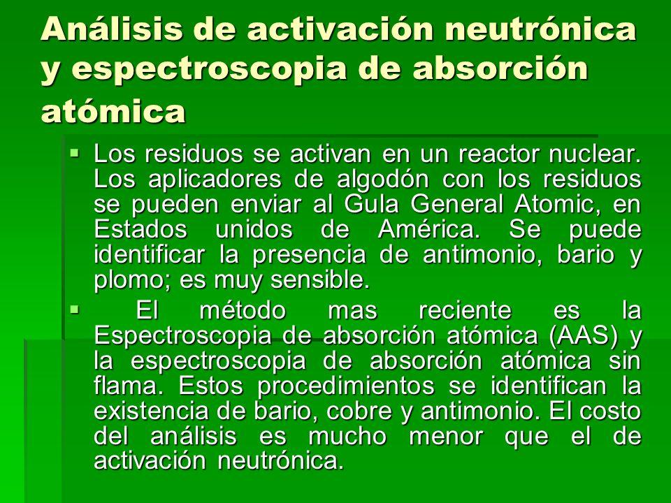 Análisis de activación neutrónica y espectroscopia de absorción atómica