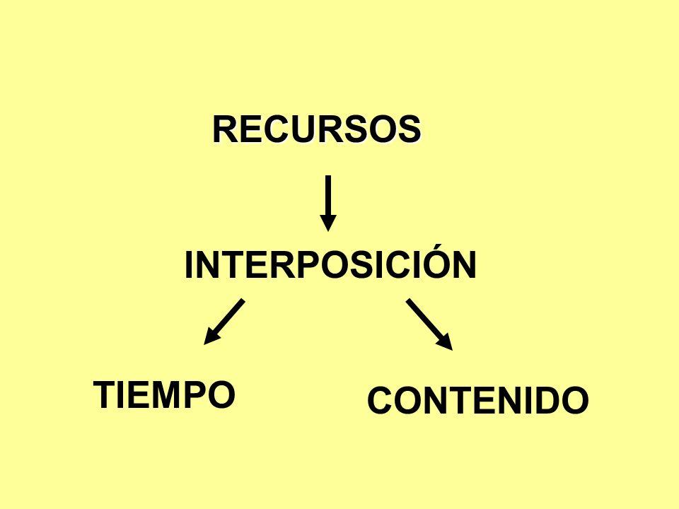 RECURSOS INTERPOSICIÓN TIEMPO CONTENIDO
