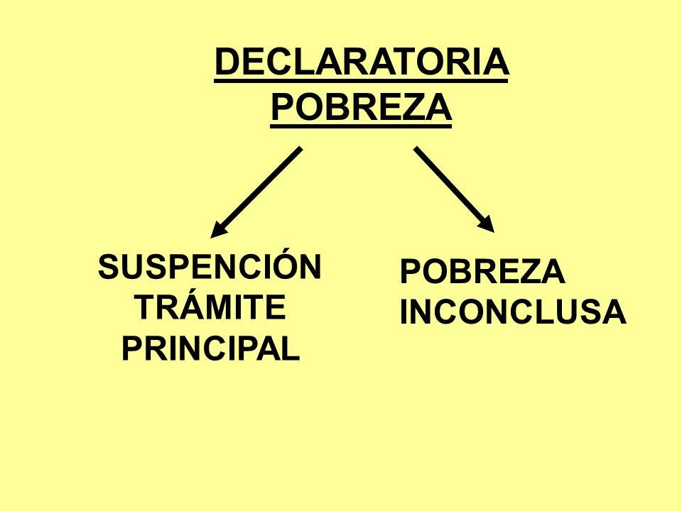 SUSPENCIÓN TRÁMITE PRINCIPAL
