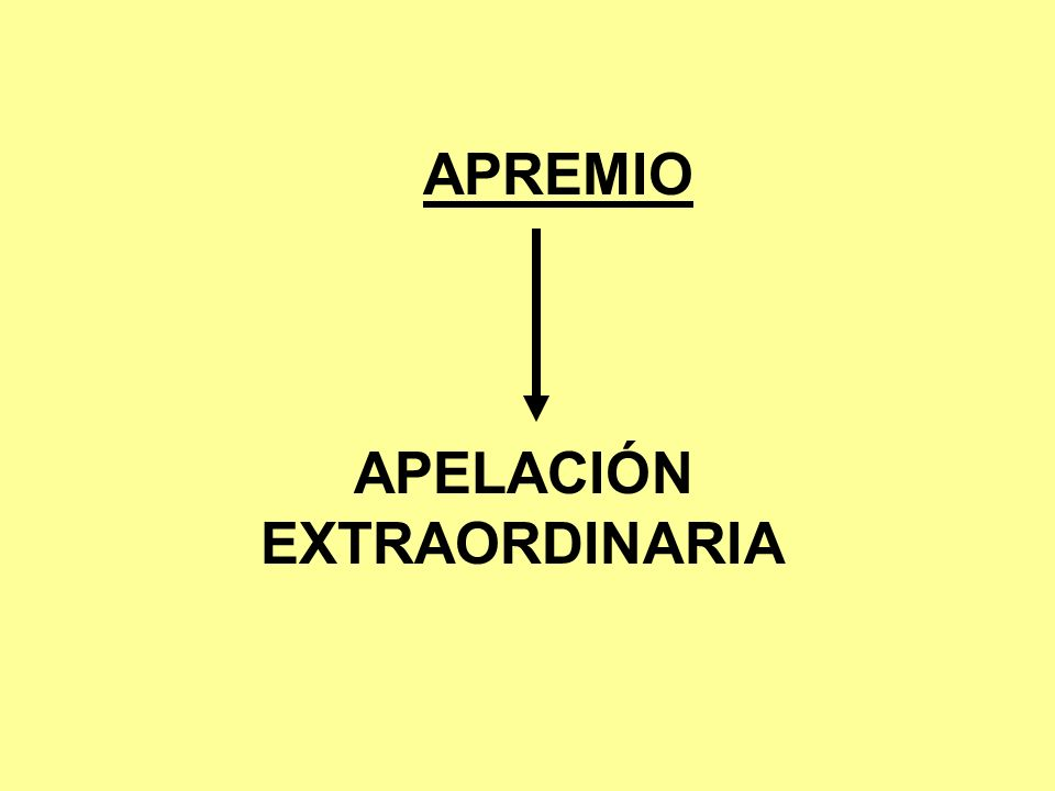APELACIÓN EXTRAORDINARIA