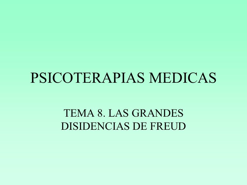 PSICOTERAPIAS MEDICAS
