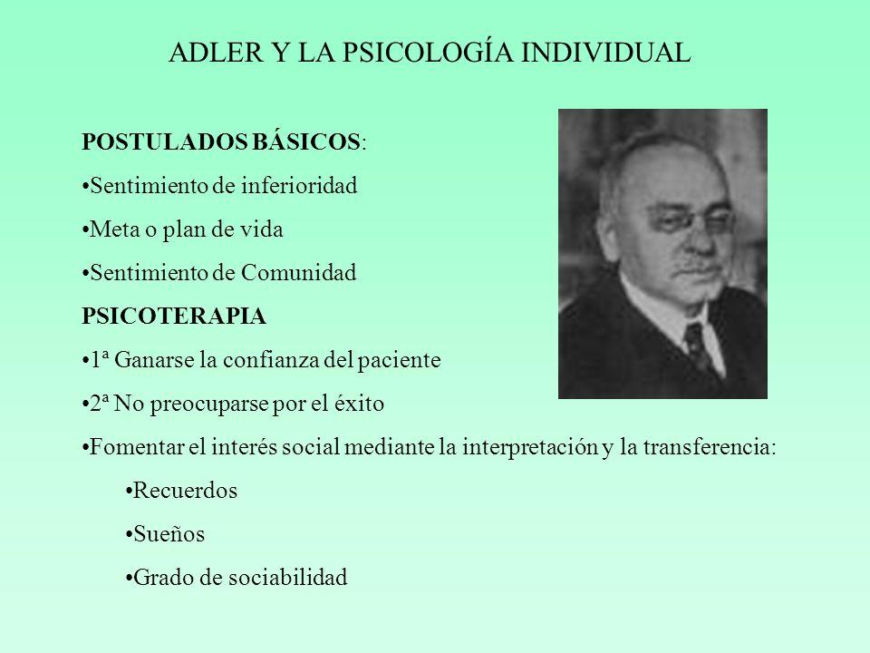 ADLER Y LA PSICOLOGÍA INDIVIDUAL