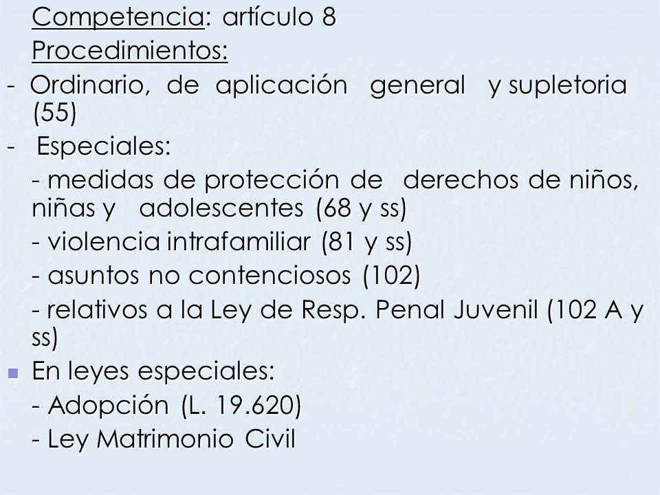 Competencia: artículo 8