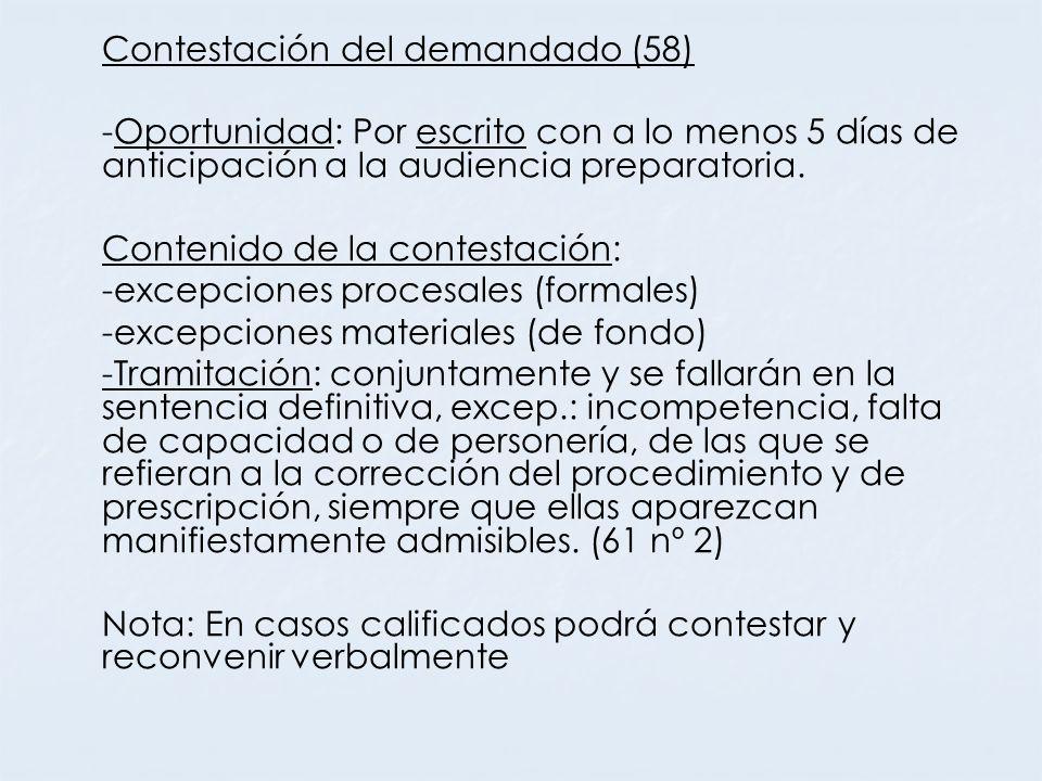 Contestación del demandado (58)