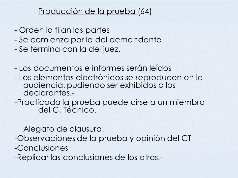 Producción de la prueba (64)