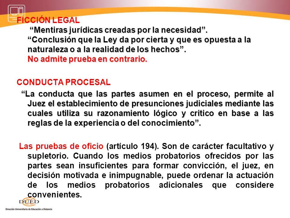 FICCIÓN LEGAL Mentiras jurídicas creadas por la necesidad