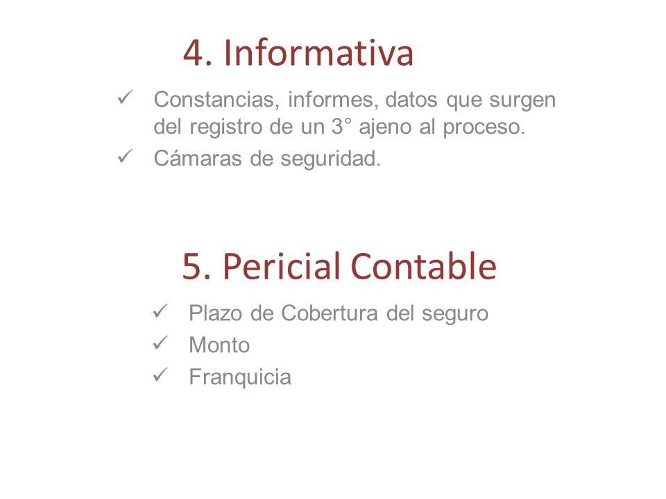 4. Informativa 5. Pericial Contable
