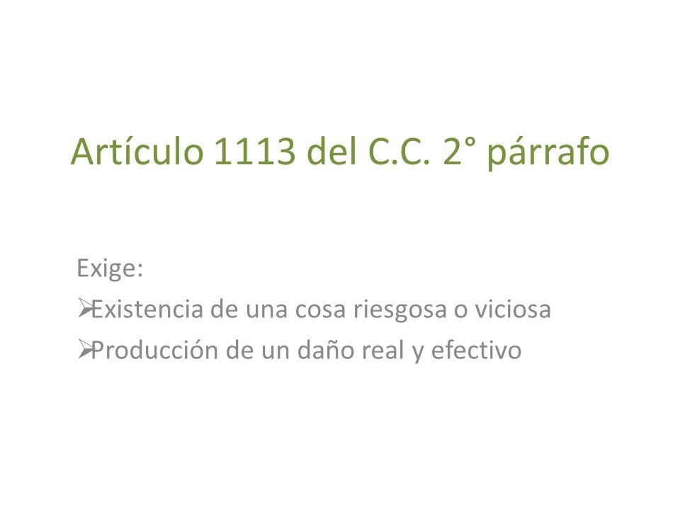 Artículo 1113 del C.C. 2° párrafo