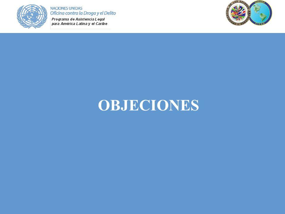 OBJECIONES