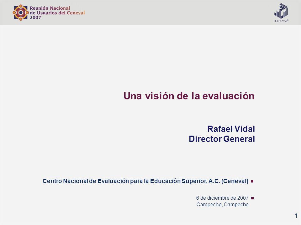 Una visión de la evaluación