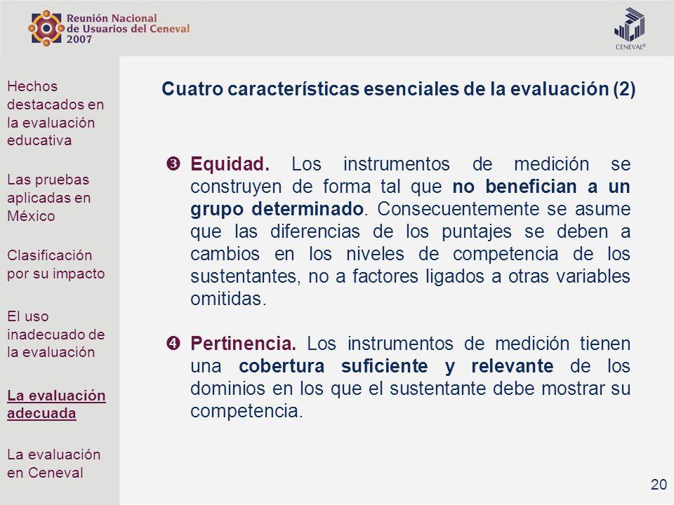 Cuatro características esenciales de la evaluación (2)