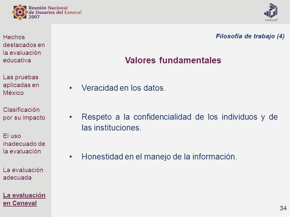 Valores fundamentales