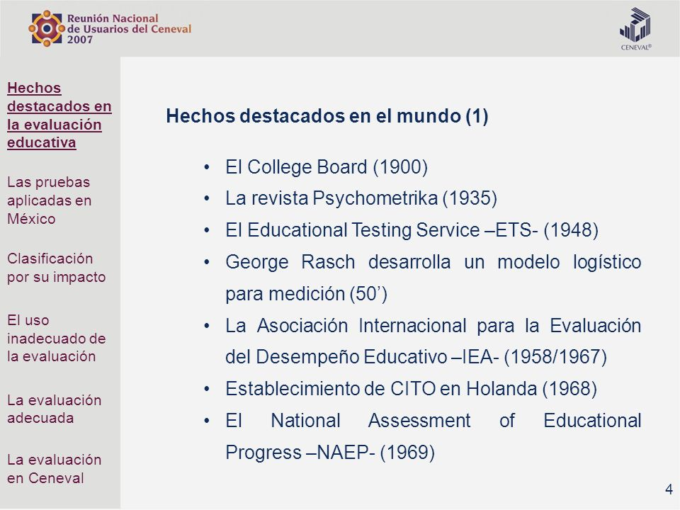 Hechos destacados en el mundo (1) El College Board (1900)