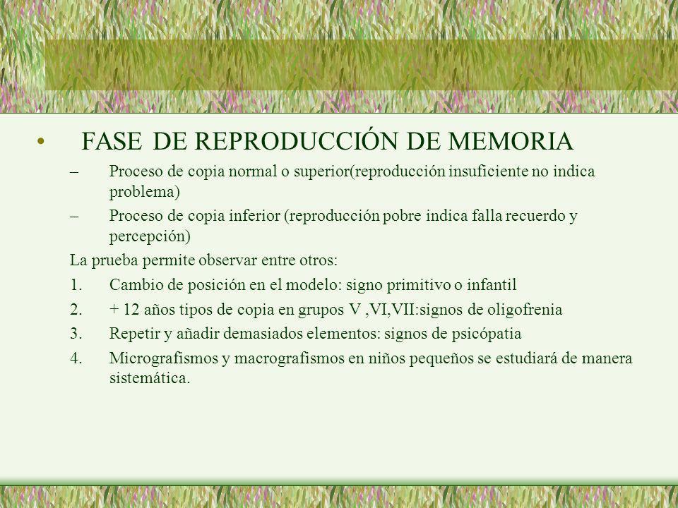 FASE DE REPRODUCCIÓN DE MEMORIA