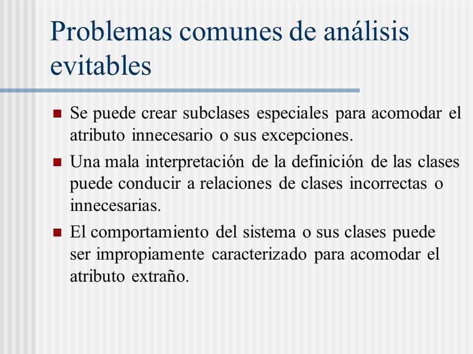Problemas comunes de análisis evitables