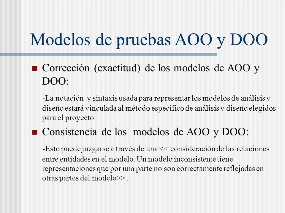 Modelos de pruebas AOO y DOO