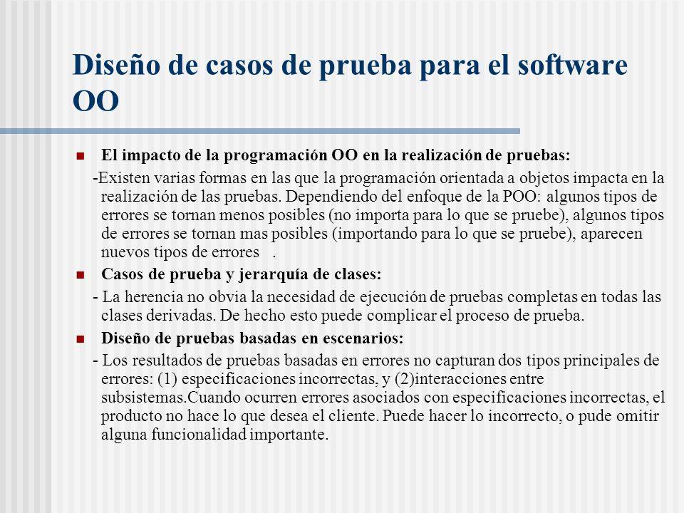 Diseño de casos de prueba para el software OO