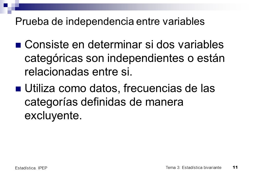 Prueba de independencia entre variables