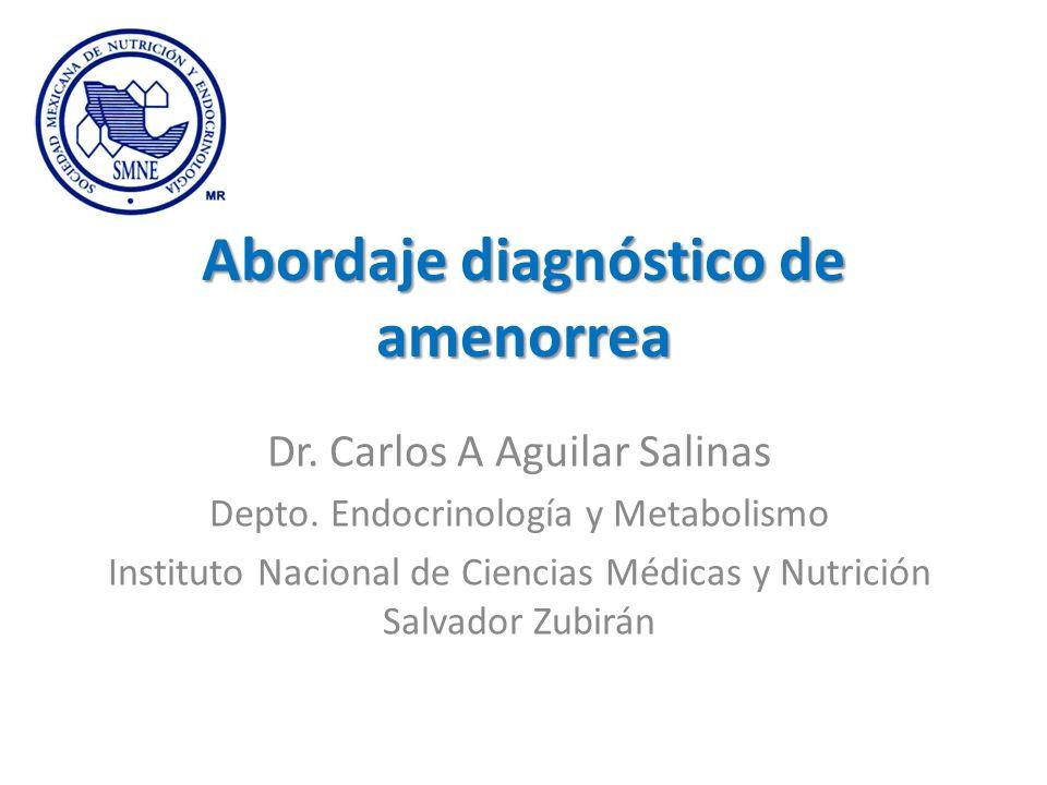Abordaje diagnóstico de amenorrea