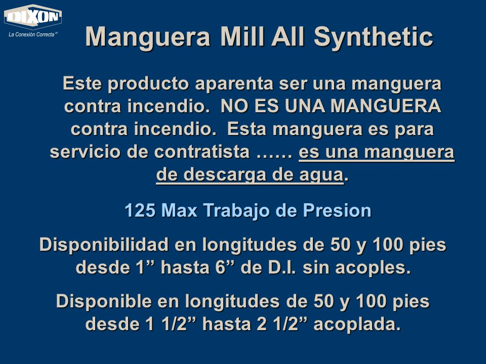 Manguera Mill All Synthetic