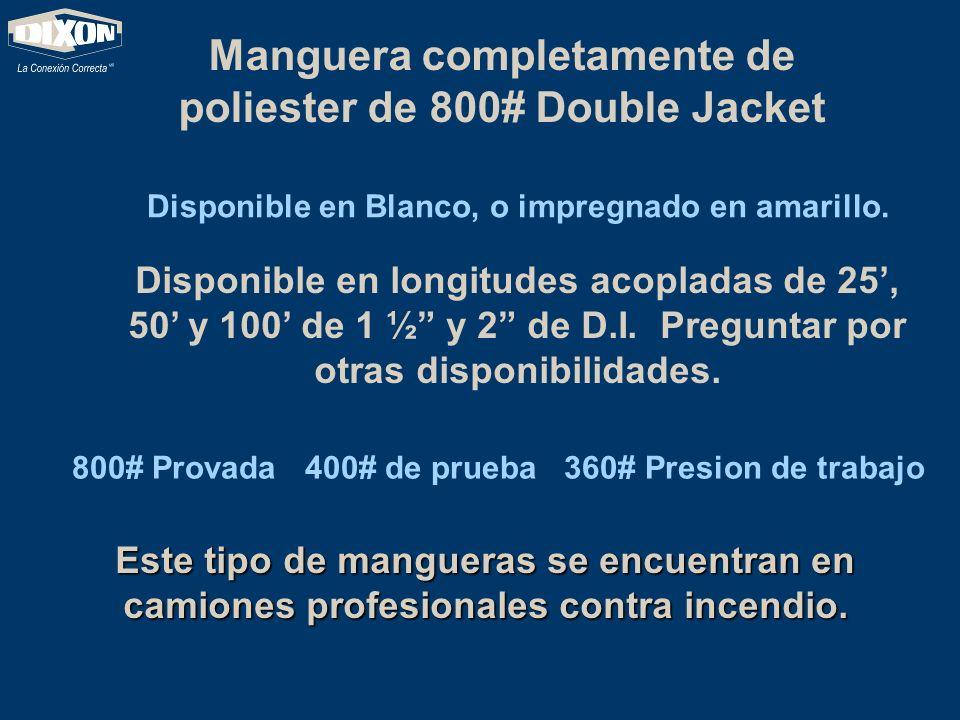 Manguera completamente de poliester de 800# Double Jacket