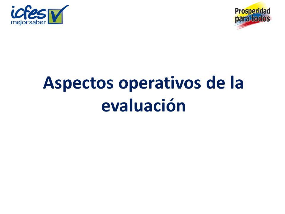 Aspectos operativos de la evaluación