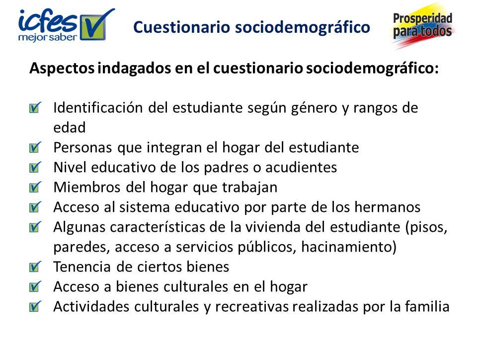 Cuestionario sociodemográfico
