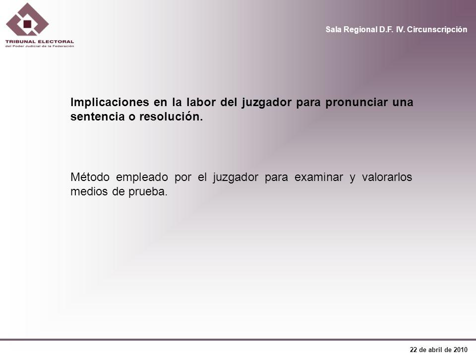 Implicaciones en la labor del juzgador para pronunciar una sentencia o resolución.