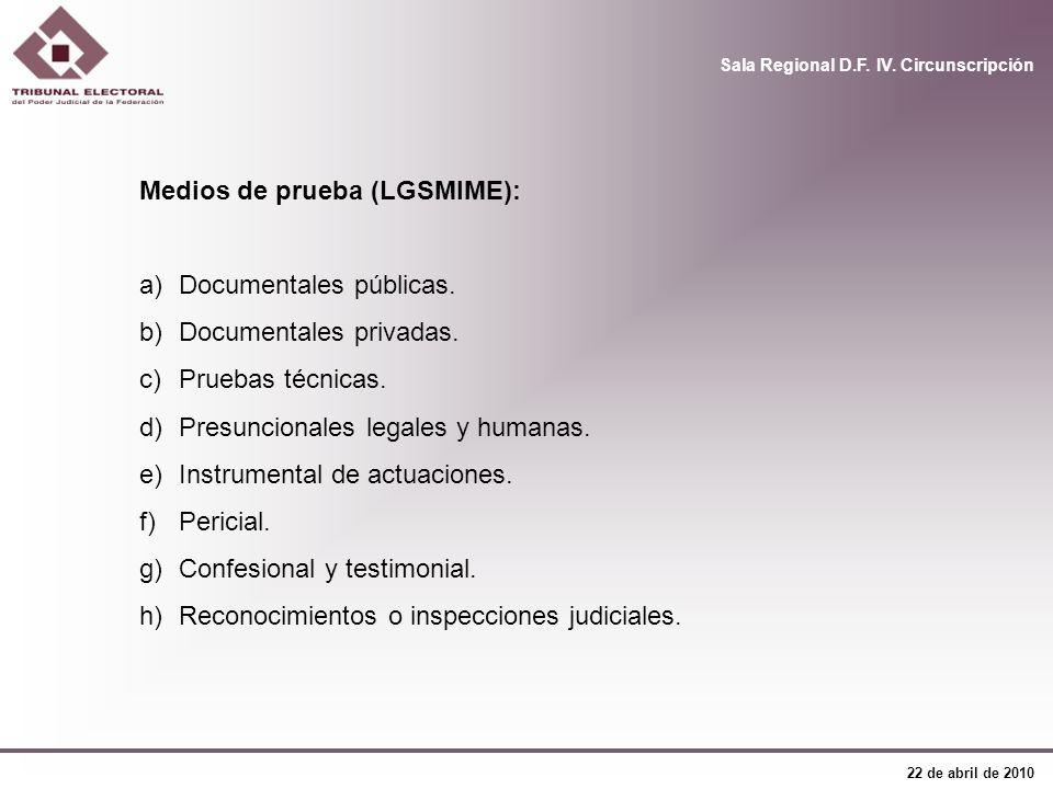 Medios de prueba (LGSMIME):